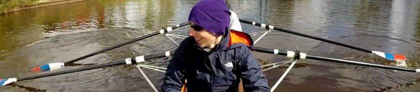 Ruderboot des Mannheimer Ruder-Clubs auf Wanderfahrt